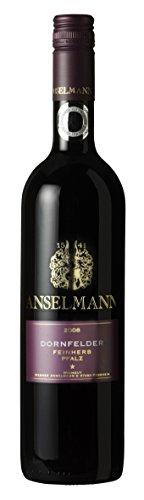6 x Dornfelder feinherb 2020 Weingut Anselmann, feinherber Rotwein aus der Pfalz