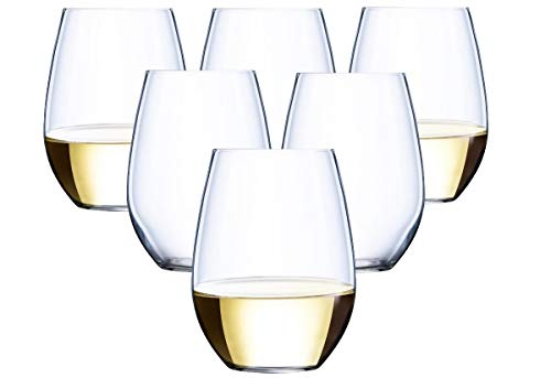 36 piece Stemless Unbreakable Crystal Clear Disposable Plastic Wine Glasses Set of 36 (10 Ounces)