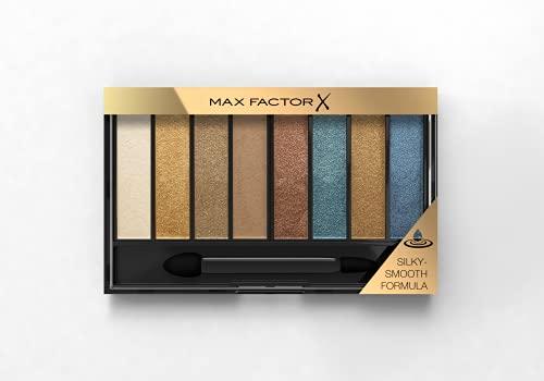 Max Factor Masterpiece Nude Palette, 8 Ombretti dal Colore Intenso, Formula Cremosa Sfumabile, 3 Finish, Tonalità Peacock Nudes