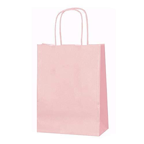 11 x Farbige Twisted Papier Partytüten Geschenktüten mit Griffe xsmall B 18 x L 24 x D 8 cm Geburtstag Weihnachten Hochzeitstag Kraft Staubbeutel, rose