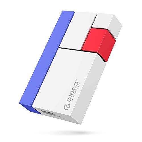 ORICO Externe protable SSD 1TB Ultra-Mini Festplatte Lesen/Schreiben bis zu 540 MB/S USB3.1 GEN2 Exterme Solid State Drives für Vlog-Blogger, Fotografen, Spielefans und Meh(CN300 Weiß)