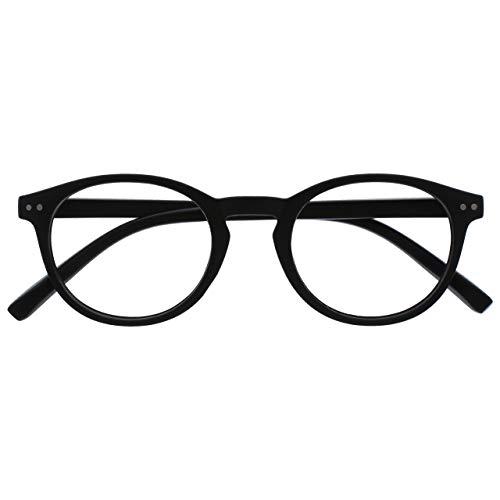 Opulize Zen Gafas De Lectura Negro Mate Suave Pequeño Hombres Mujeres Bisagras Resorte R24-1 +2,50