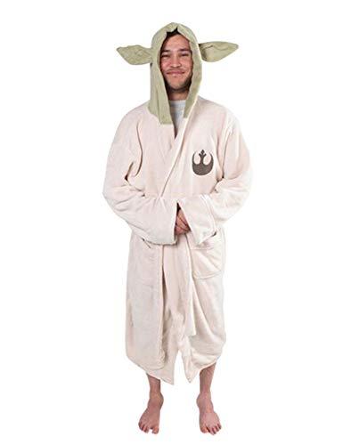 AUZOOHH Yoda Nachthemd Bademantel Cosplay-Pyjama für Erwachsene und Kinder