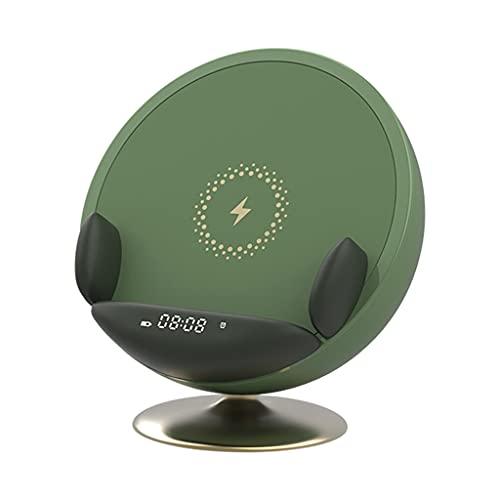 Baoblaze Poratble Despertador USB Altavoz Bluetooth Inalámbrico Dormitorio Salón Cargador Oficina Yoga SPA Sala Boda Cumpleaños Teléfono Soporte
