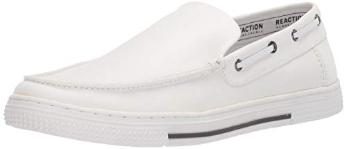 White Leather Slip on Shoes for Men