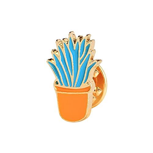 SHOWWE Nuevo broche de Navidad de dibujos animados traje creativo collar pin planta cactus en maceta gota broche con ropa bolsa de escuela adornos para decoración (estilo 2)
