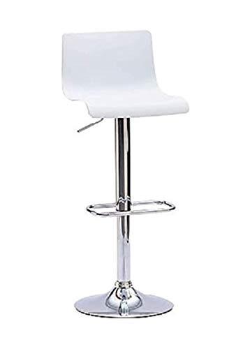 LoryArreda.Com 2 Sgabelli da Bar Cucina girevoli seduta bianca regolabile in altezza 62-82 cm. con schienale e poggiapiedi