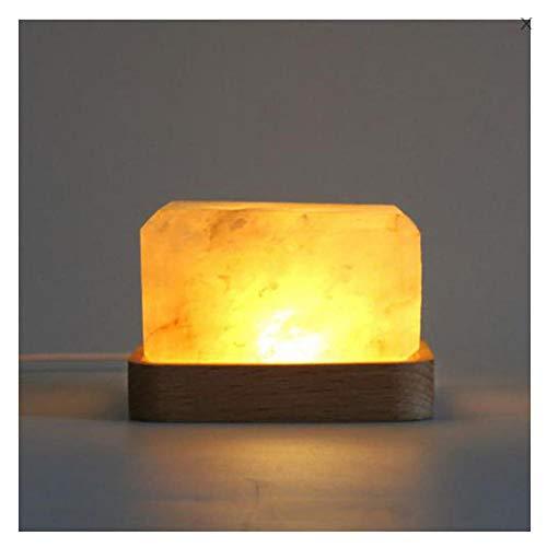 Zoutsteen, geschenklamp, lamp, zoutlamp, nachtlampje, usb-opladen, thuis, sfeer, tafellamp, USB-plug-in model warmwit