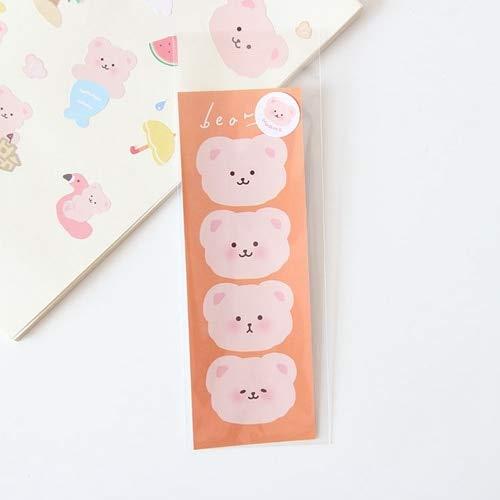 Hairy Bear Journal Dekorative Aufkleber DIY Scrapbooking Stick Label Tagebuch Album Mobile Aufkleber Niedlicher Briefpapier Aufkleber - F.