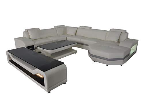 JVmoebel Leder Eck Sofa Polster Couchen Wohnlandschaft Luxus Garnitur Ecke Sofas Couch