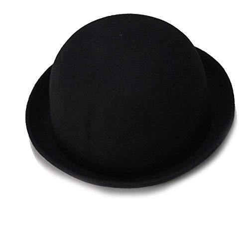 HX fashion Sombrero Beanie Bowler Sombrero Bogart para Mujer Sombrero Tradicional Derby Basic Sombrero De Panamá Estilo Moderno Sombrero De Campana Gorras Ropa (Color : Negro, Size : One Size)