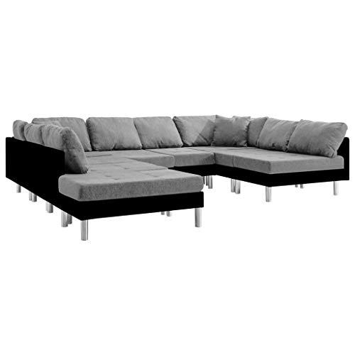 Tidyard Sofás de salón Sofá Modular de Cuero sintético Negro