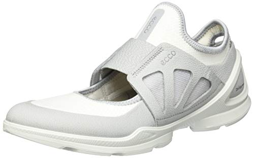 ECCO BIOMSTREETW, Zapatillas sin Cordones Mujer, Blanco (Concrete/White 52091), 41 EU