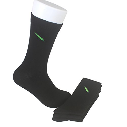 Price comparison product image Zulle Men's 4 Pack Bamboo Crew Dress Socks-Moisture Wicking, Deodorant, Ultra Soft (Black)