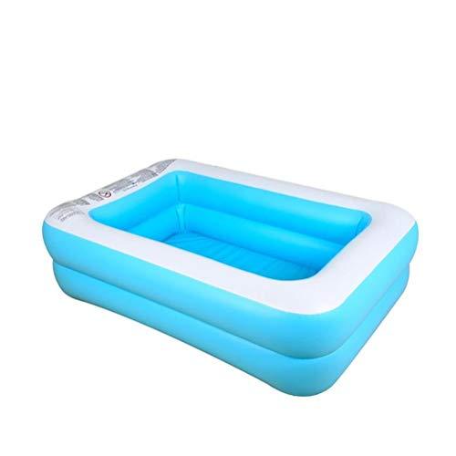DFSDG Piscina hinchable de gran tamaño de 1,1 m/1,3 m/1,5 m, PVC grueso, piscina para niños y adultos (tamaño: 150 x 108 x 46 cm)