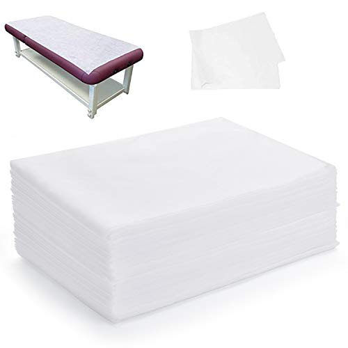 "Rebirthcare 20PCS Disposable massage table sheets sets,folding massage bed sheets,Sheets used in hotels, beauty salons and massage shops Bed Cover 70""X31"""