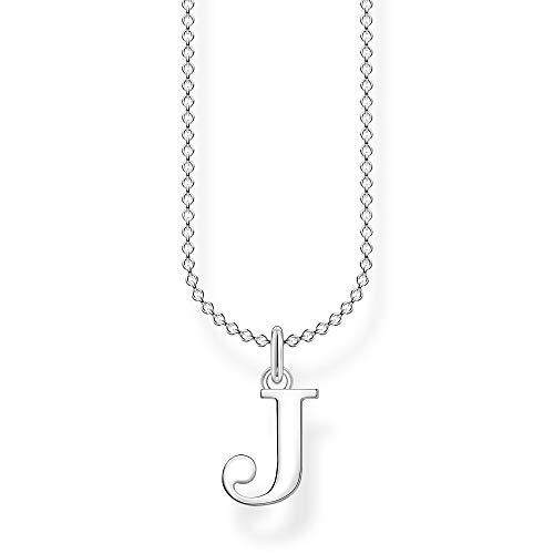 Thomas Sabo Damen Halskette Buchstabe J silber 925 Sterlingsilber, 38-45 cm Länge