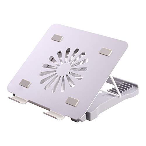 Jinxin laptopstandaard voor kantoorbenodigdheden, beweegbare opvouwbare desktop-laptophouder, 8 hoogte aanpassing (met Blu-ray-fan en 4 USB-poorten)