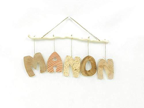 Prénom, lettres en bois, déco enfant/bébé, cadeau de naissance, mobile en bois avec prénom, fait main en bois naturel