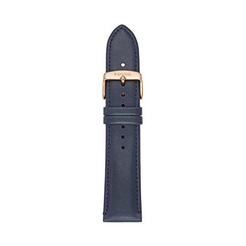 Fossil - S221348 - Bracelet de Montre - Femme - Cuir - Bleu Foncé