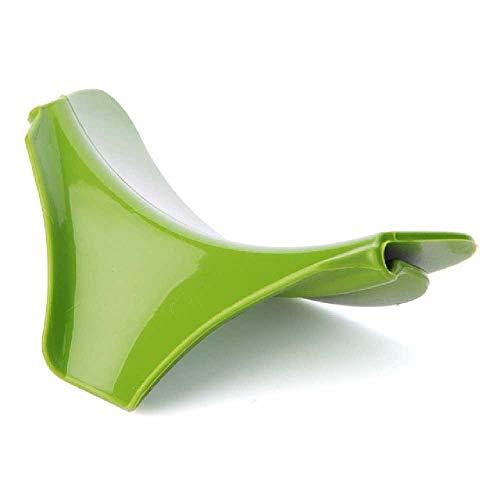 zhuao Kreativer Anti-Überlauf-Silikongleittrichter, in Den Suppentopf-Wassertrichter Gießen, Für Töpfe, Pfannen, Pfannen, Küchenutensilien, Projekt Grün