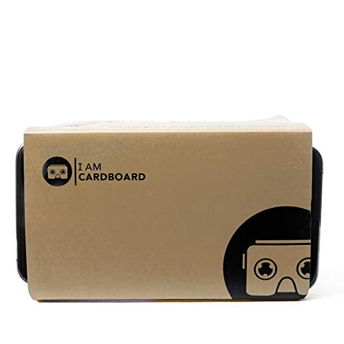 I Am Cardboard VR Box | The Best Google Cardboard Virtual Reality Viewer for iPhone and Android | Google Cardboard v2 Headset Inspired | Small and Unique Travel Gift Under 20 Dollars (Brown)