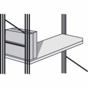 Kerkmann Seitensteg für Bibliotheks-Regal libra Tiefe 30cm lichtgrau