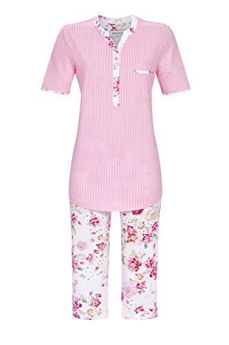 Ringella Damen Pyjama mit Caprihose nelke 44 1211220, nelke, 44