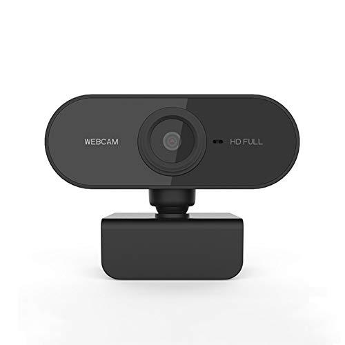 HXCH Cámara web, 1080p Live Streaming Cámara con micrófono estéreo, cámara web para ordenador portátil/escritorio/Mac/TV, USB PC Cam para videollamadas, conferencias, juegos