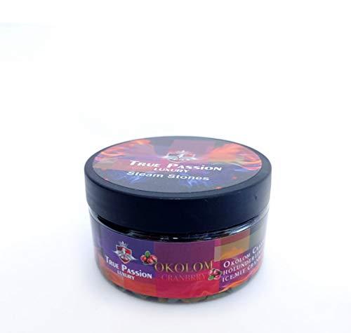 True Passion Shisha Dampfsteine 120g - Okolom Cranbrry | Tabakersatz für Wasserpfeife