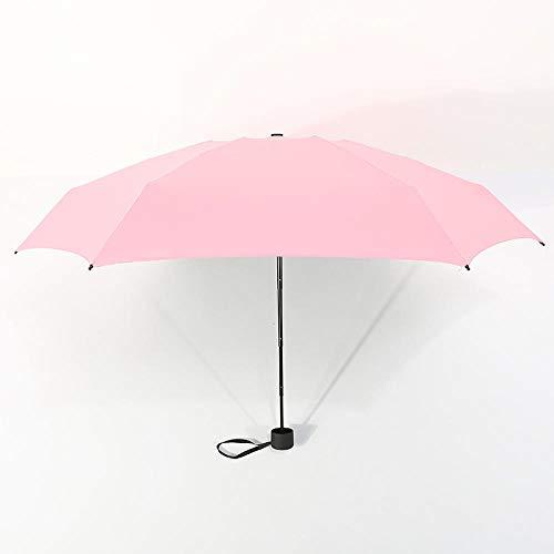 Parasol Parapluie Petite Mode 5 Parapluie Pliant Pluie Femmes Mini Parapluie De Poche Pare-Soleil UV Parapluies Étanche Portable Voyage Parasol Rose