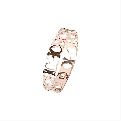 LFWQ Armband met letters, titanium, goud, temperament, sieraden voor studenten