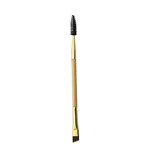 Yiitay 1 pcs double tête Doré Brosse Cils Brosse à sourcils Maquillage Brosse Peigne