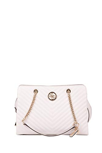 Guess Borsa shopping Blakely Girlfriend satchel ecopelle trapuntata bianco 3 comp. BS20GU121