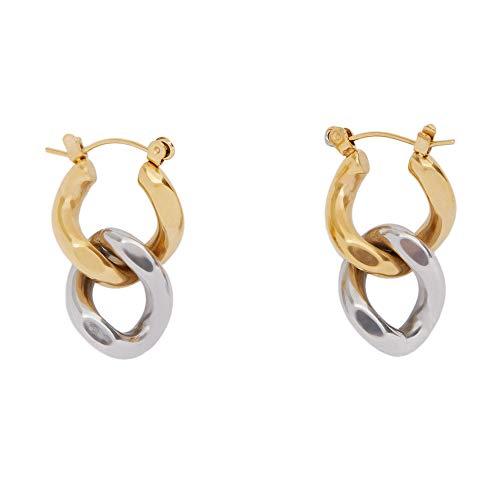 Parfois - Pendiente Stainless Steel Golden - Mujeres - Tallas Única - Multicor Metálica