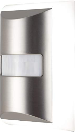 GE Luz nocturna LED, sensor de movimiento, enchufable, amanecer a anochecer, Moderno, Brushed Nickel | Coverlite