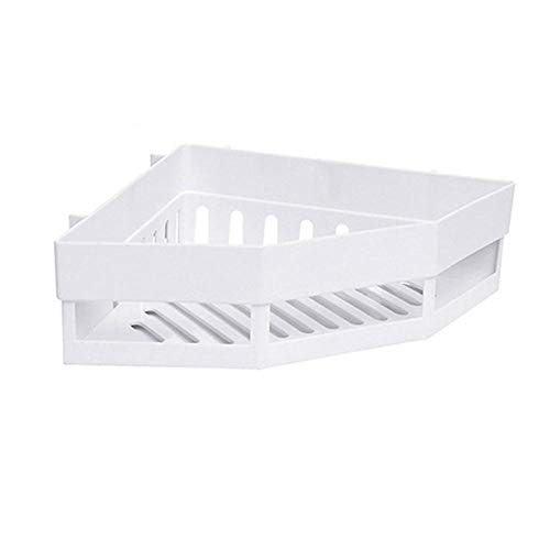 XXRAN Badeckablage, Küchenablage, Baddreieck, Bodenwand, Kunststoffablage weiß