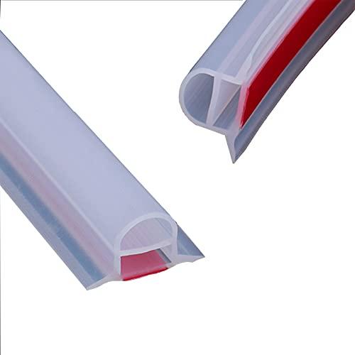 SJASD Duschschwelle Barriere,Faltbares Duschsperr Rückhaltesystem, Schwallschutzleiste Dusche,Bogendesign, Rollstuhlgerecht, Ideal für Barrierefreie Oder ADA-Duschen,3m(118inch)