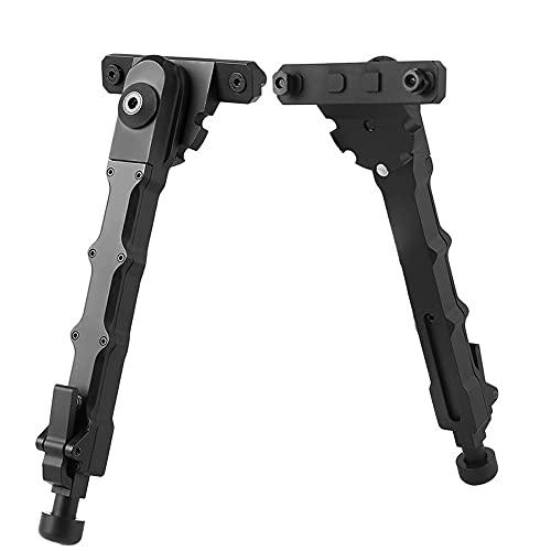 Athemeet BIPODS, cámara al Aire Libre BIPOD Ajustable BIPOD Aleación de Aluminio Relación rápida Estable V9 bipod para Negro Negro