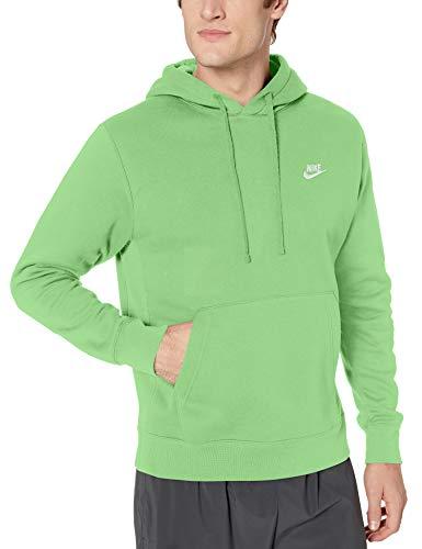 NIKE Sportswear Club Fleece Sudadera, Hombre, Green Nebula/Green Nebula/White, L/T