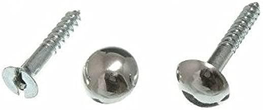 200 X Mirror Screw And Dome Head Chrome No. 8 X 32Mm 1 1/4 Inch