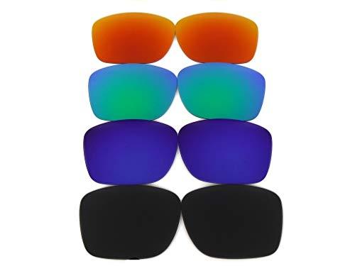 Lentes de repuesto Galaxy para Oakley Holbrook Metal OO4123 (no Regular Holbrook) Polarizadas negro/azul/verde/rojo