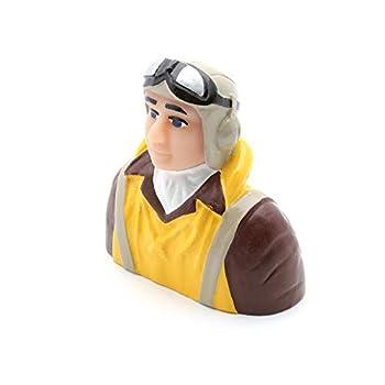 Hangar 9 1/6 Scale WWII Pilot with Vest Helmet Goggles HAN9132