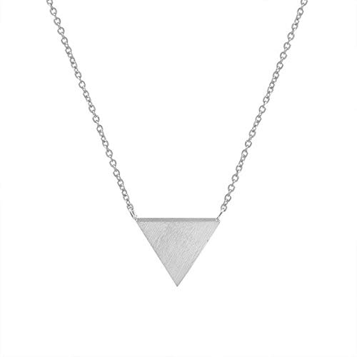 Collares de cadena de diseño de triángulo creativo para mujeres Chaming femenino Fiesta de bodas Regalos de niña Collar colgante de moda