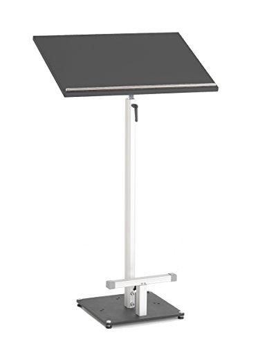Stehpult SLIDE mit Pultplatte in Schwarz, stufenlos höhenverstellbar von 100 bis 170 cm & stufenlos neigbar von 0-85°