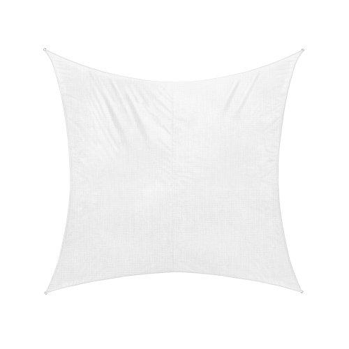 jarolift Voile d'ombrage   Toile d'ombrage   Carré   Tissu Respirant   360 x 360 cm, Blanc crème