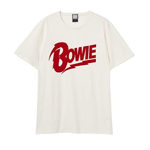 Amplified David Bowie Flocked Duke VIN - Camiseta unisex, color blanco, David Bowie Flocked Duke, Vin. blanco., XS