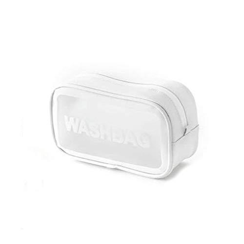 Reise Kulturbeutel Kulturtasche Waschtasche Waschbeutel Toilettentasche - Wasserdicht, Auslaufsicher - Weiß