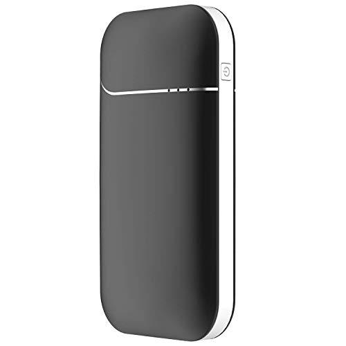 VAPIAO Wiederaufladbarer [Handwärmer] Fingerwärmer [wiederverwendbar] bis zu 8 h warme Hände mit integrierter Powerbank USB 7800 mAH in schwarz