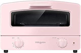 Wghz Mini Horno Eléctrico Doméstico Tubo de Vidrio de Cuarzo Doble Tipo de cajón Calefactor Red a la Parrilla y Horno de sobremesa de 1000w Horno Azul y Rosa, Rosa